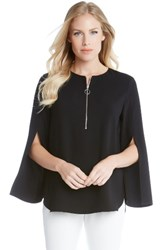 Karen Kane Women's Slit Sleeve Crepe Half Zip Top