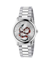 Gucci Snake Stainless Steel Bracelet Watch Silver