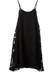 Cacharel Sheer Shift Dress Black