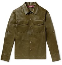 Sies Marjan Leather Overshirt Army Green