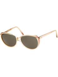 Yves Saint Laurent Vintage 80S Sunglasses Nude And Neutrals