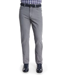 Ermenegildo Zegna Five Pocket Slim Fit Denim Jeans Light Gray Size 35 Light Grey