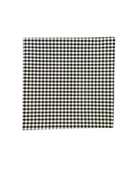 The Tie Bar Gingham Checked Pocket Square Black