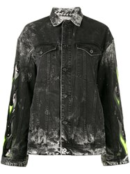 Filles A Papa Renegade Embellished Denim Jacket Black