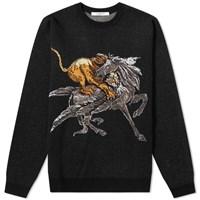 Givenchy Lion And Pegasus Crew Knit Black