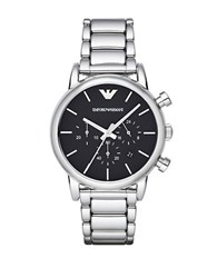 Emporio Armani Mens Silvertone Chronograph Watch
