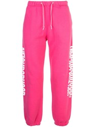 Neighborhood Side Print Track Pants Pink