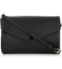 Sandro Pola Leather Cross Body Bag Black