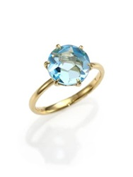 Ippolita Rock Candy Blue Topaz And 18K Yellow Gold Ring Gold Topaz