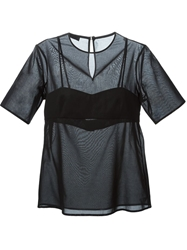 T By Alexander Wang Bra Insert T Shirt Black