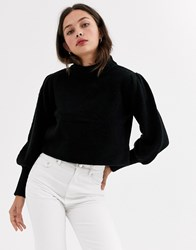 Moon River Balloon Sleeve Jumper Black