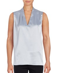 T Tahari Edie Sleeveless Blouse Riverstone