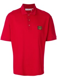 Gianfranco Ferre Vintage Logo Patch Polo Shirt Red