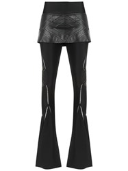 Andrea Bogosian Layered Flare Trousers Black