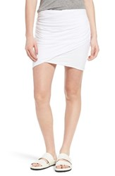 James Perse Women's Ruched High Waist Skirt
