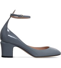 Valentino Tan Go 60 Patent Leather Courts Grey Light