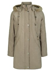 Eastex Long Hooded Raincoat Stone Neutral
