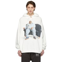 R 13 R13 White Biggie Couch Hoodie