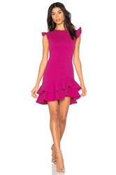 Susana Monaco Sleeveless Ruffle Hem Dress Pink