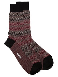 Missoni Zig Zag Socks Black