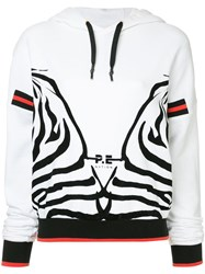 P.E Nation Racing Stripe Hoodie White