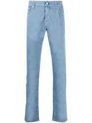 Jacob Cohen Straight Cotton Blend Trousers 60