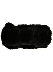 Yves Salomon Furry Headband Black