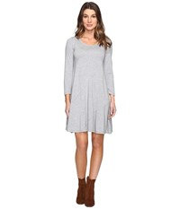 Mod O Doc Cotton Modal Spandex Jersey Seamed Swing Dress Smoke Heather Women's Dress Gray
