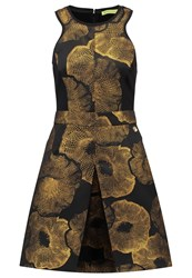 Versace Jeans Cocktail Dress Party Dress Oro Black