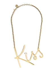 Lanvin 'Kiss' Necklace Metallic