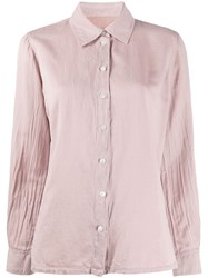 Raquel Allegra Long Sleeved Wrinkled Effect Shirt 60