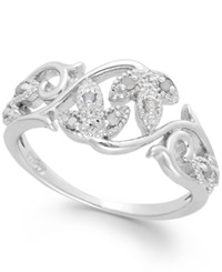 Macy's Diamond Vine Ring In Sterling Silver 1 10 Ct. T.W.