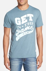 7Th Inning Stretch 'Get In The Game' Graphic T Shirt Faded Blue
