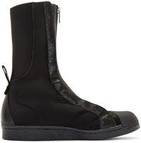 Y 3 Black Neoprene Shell Boxing Boots