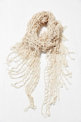 Urban Outfitters Mixed Mesh Oversized Blanket Scarf Ivory