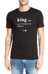 A Black And White Story Men's King Dictionary Graphic T Shirt