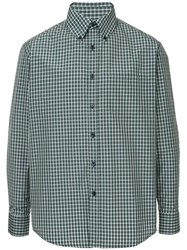 Martine Rose Checked Fitted Shirt Green