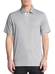 Saks Fifth Avenue Black Pima Cotton Polo Shirt