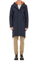 Stutterheim Raincoats Men's Cotton Blend Twill 3 In 1 Parka Navy