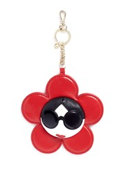 Alice Olivia 'Stace Face' Large Flower Leather Coin Purse Charm Red Multi Colour