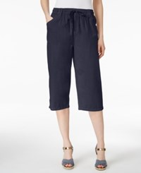 Karen Scott Drawstring Cropped Pants Only At Macy's Intrepid Blue
