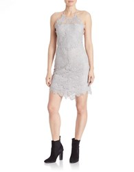 Free People Shes Got It Scalloped Lace Slip Dress Light Grey