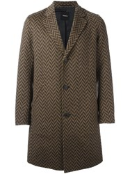 Theory 'Delancey' Coat Brown