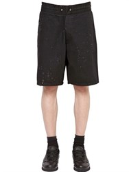 Givenchy Destroyed Cotton Denim Bermuda Shorts
