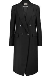 Temperley London Stitch Trimmed Wool Blend Coat Black