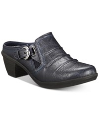 Easy Street Shoes Calm Mules Navy Burnished