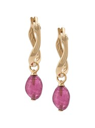 John Hardy Adwoa Aboah 18Kt Yellow Gold And Pink Tourmaline Twisted Metallic