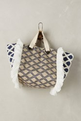 Anthropologie Criss Cross Tote Navy