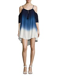 Young Fabulous And Broke Ombre Cold Shoulder Hi Lo Dress Eclipse