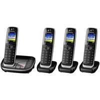 Panasonic Kx Tgj324eb Digital Cordless Phone With Nuisance Call Control And Answering Machine Quad Dect